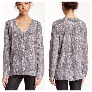 Joie Michi 100% Silk Animal Print blouse